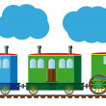Funny train — Stock Vector