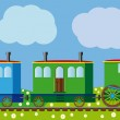 Funny train — Vector de stock