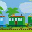 Funny train for your design project. — ストックベクタ