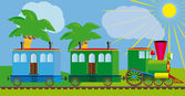 Funny train for your design project. — Vector de stock