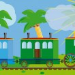 Funny train for your design project. — Vettoriale Stock