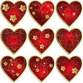 Set of hearts — Vettoriale Stock