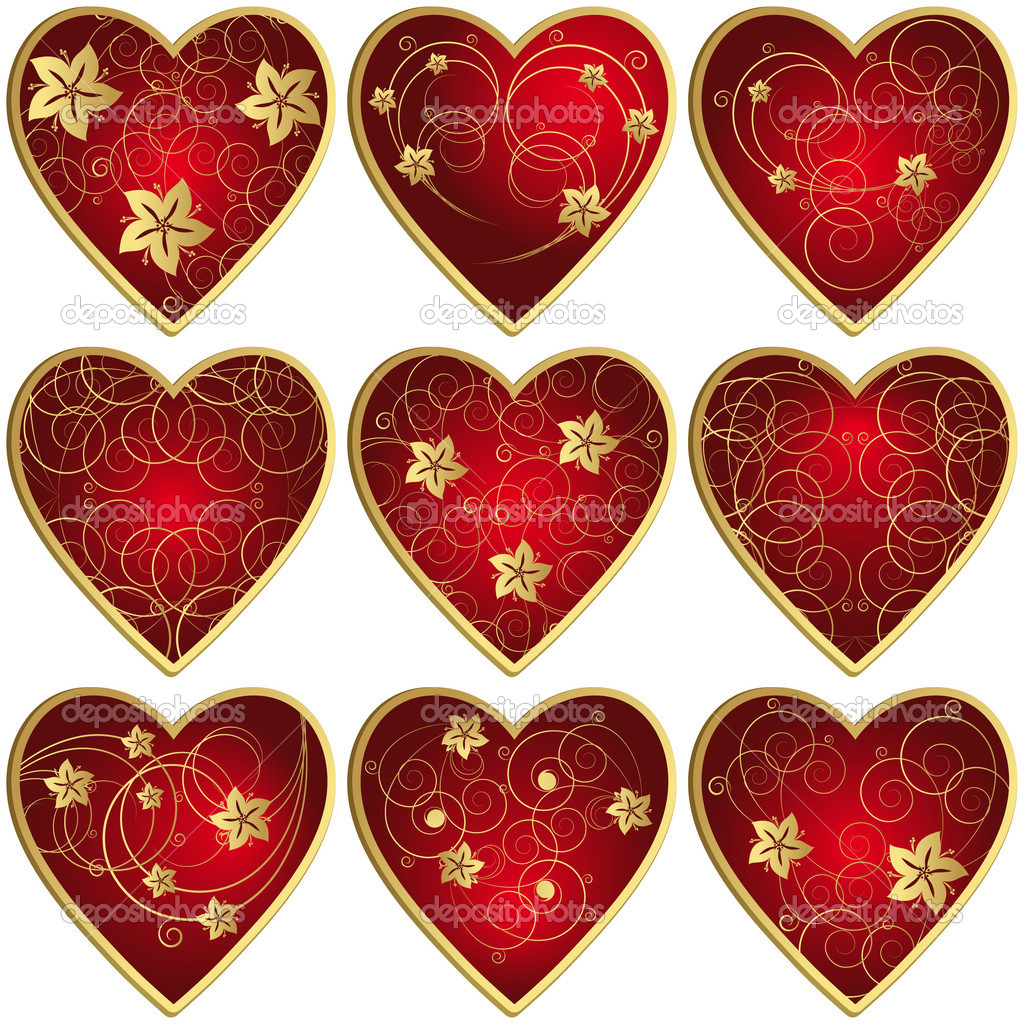 Set of hearts - an illustration for your design project. — Stock Vector #2849226