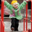 A child playing at the playground - Stock Photo