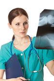 Portrait of female doctor — Стоковое фото