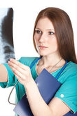 Portrait of female doctor — Stock Photo