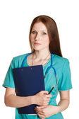 Portrait of female doctor — Stockfoto