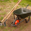 Royalty-Free Stock Photo: Wheelbarrow in a garden