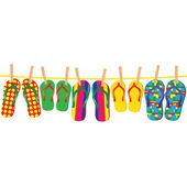 Flip-flops — Stock Vector