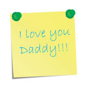 I love you Daddy! — Stock Vector