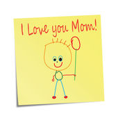I love you Mom! — Stock Vector