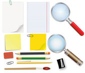 Set of school supplies — Stock Vector
