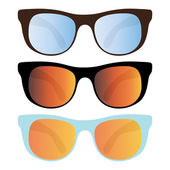 Collection of sunglasses — Stock Vector
