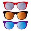 Royalty-Free Stock Vector Image: Collection of sunglasses isolated on white