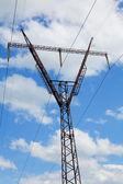 Steel electricity pylon — Stock Photo