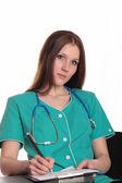 Pretty female doctor — Stock Photo