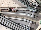 Escalator in a big mall — Stock Photo