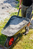 Somebody pushing the wheelbarrow — Stock Photo