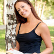 Pretty girl reading a book — Stock Photo #3425162