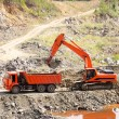 Dump Truck and Excavator in Quarry — Stock Photo #3516962
