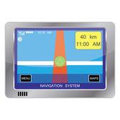 Navigation system device — Stock Vector