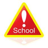 School Sign — Stock Vector