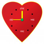 Clock of love — Stock Vector