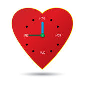 Clock of love — Stock Vector