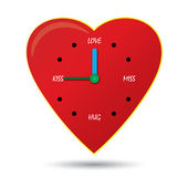 Clock of love — Stockvector