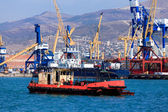 Ships in a port — Stock Photo