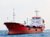 Red tanker — Stock Photo