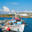 Fishing boat near the pier after the sea — Stock Photo