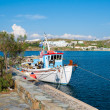 A boat on dock of island of Mykonos — Stock Photo #2814992