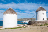 Two windmills of Mykonos, Little Venice — Stock Photo