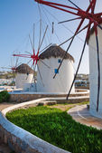 A few windmills on Mykonos — Stock Photo
