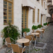 Cafe along the streets near the hotel - Stock Photo