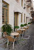 Cafe along the streets near the hotel — Stock Photo