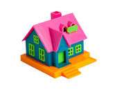 Colorful toy house on a white — Стоковое фото