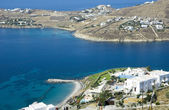 Top view of the hotel in Mykonos — Stock Photo