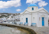 Church in Chora Mykonos Island — Stock Photo