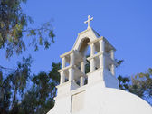Bell tower of the old church — Stock Photo