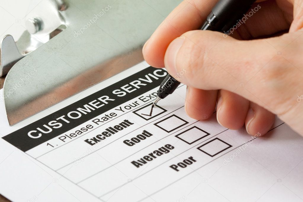 Excellent experience checkbox in customer service survey form — Stock Photo #2718174