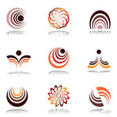 Design elements in warm colors. Set 12. — Stock Vector