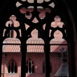 The old castle in Malbork - Poland. The gothic window. — Foto de Stock