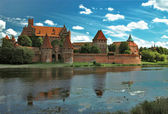 The old castle in Malbork - Poland. — Stock Photo