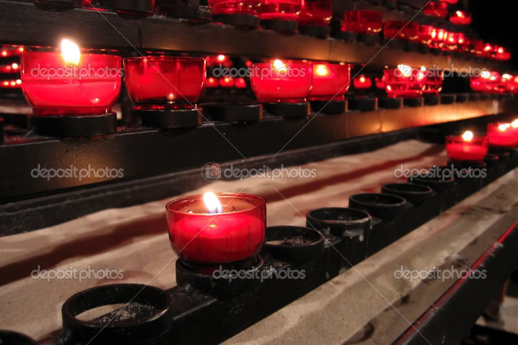 Row of candles in a church — Stock Photo #2909357