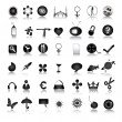 Black icons collection - Stock Photo