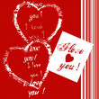 Card with i llove you - Stock Photo