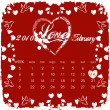 Stock Photo: Valentine calendar 2010