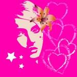 Valentine beautiful pink girl — Stock Photo